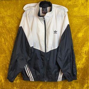 Adidas Vintage Hooded Full Zip Windbreaker SizeXL